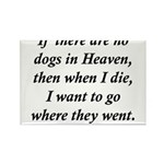 Dogs Heaven Rectangle Magnet (100 pack)