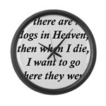 Dogs Heaven Large Wall Clock