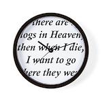 Dogs Heaven Wall Clock