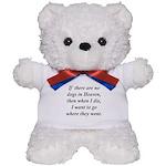 Dogs Heaven Teddy Bear