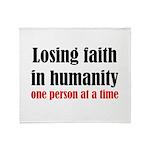 Losing Faith Throw Blanket