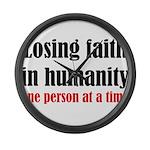 Losing Faith Large Wall Clock