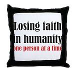Losing Faith Throw Pillow