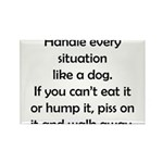Dog Situation Rectangle Magnet