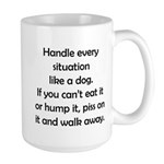 Dog Situation Large Mug