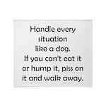 Dog Situation Throw Blanket