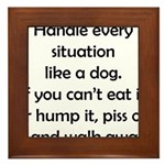 Dog Situation Framed Tile