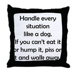 Dog Situation Throw Pillow