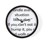 Dog Situation Wall Clock