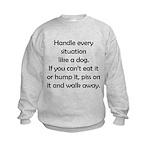 Dog Situation Kids Sweatshirt