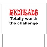 Redheads Yard Sign