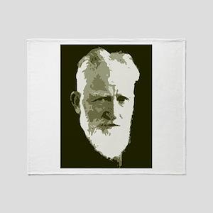 George Bernard Shaw Throw Blanket