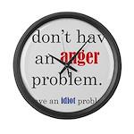 Idiot Problem Large Wall Clock