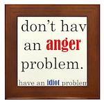 Idiot Problem Framed Tile