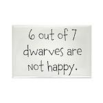 Happy Dwarves Rectangle Magnet (100 pack)