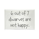 Happy Dwarves Rectangle Magnet (10 pack)