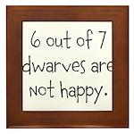Happy Dwarves Framed Tile