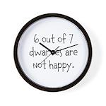Happy Dwarves Wall Clock