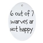 Happy Dwarves Ornament (Oval)