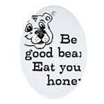 Good Bear Ornament (Oval)