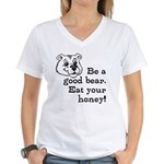Good Bear Women's V-Neck T-Shirt