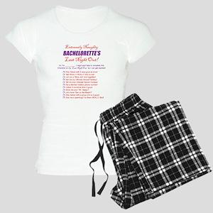Bachelorette Party Checklist Women's Light Pajamas