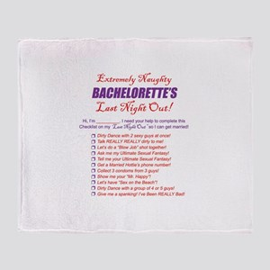 Bachelorette Party Checklist Throw Blanket