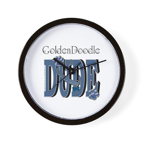 GoldenDoodle DUDE Wall Clock