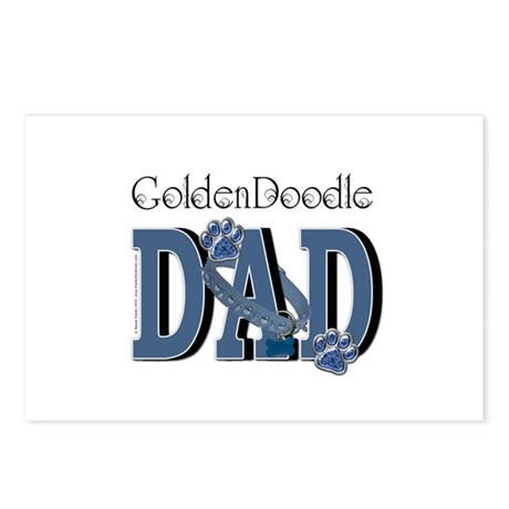 GoldenDoodle DAD Postcards (Package of 8)