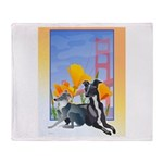 No. CA. Italian Greyhound Club Throw Blanket