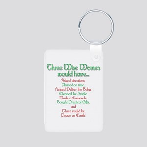 Three Wise Women Aluminum Photo Keychain