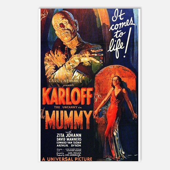 The Mummy Postcards (Package of 8)