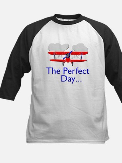 The Perfect Day Biplane Kids Baseball Jersey