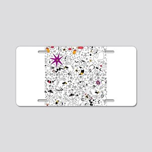 Inspired by Miro Aluminum License Plate