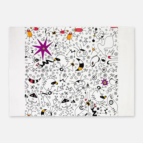 Inspired by Miro 5'x7'Area Rug
