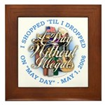 Day Without Illegals Framed Tile