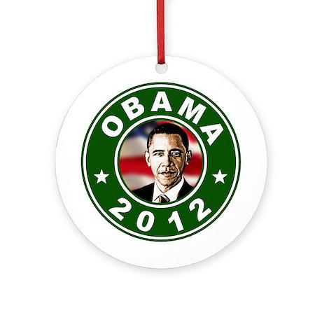 Obama 2012 Election Commemorative Ornament (Round)