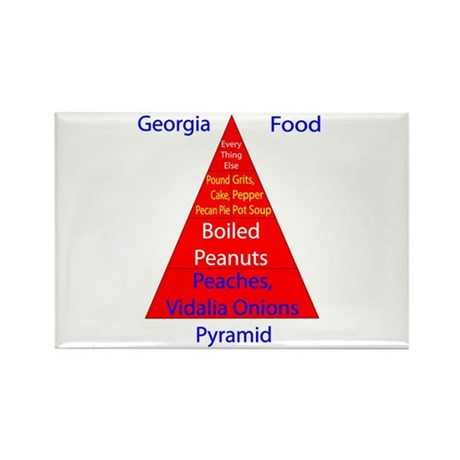 Georgia Food Pyramid Rectangle Magnet (10 pack)
