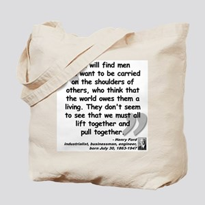 Ford Together Quote Tote Bag