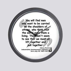 Ford Together Quote Wall Clock
