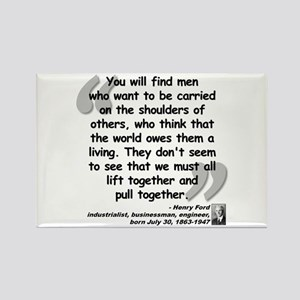 Ford Together Quote Rectangle Magnet
