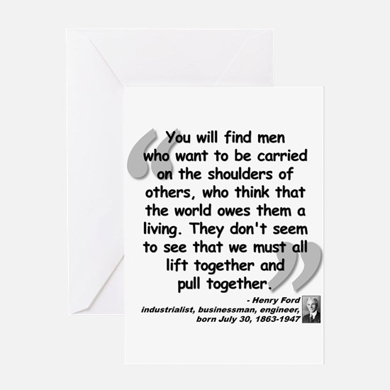 Ford Together Quote Greeting Card