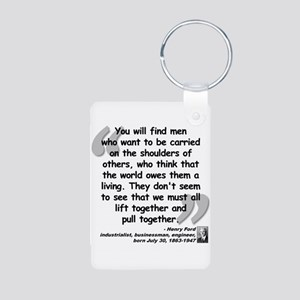 Ford Together Quote Aluminum Photo Keychain
