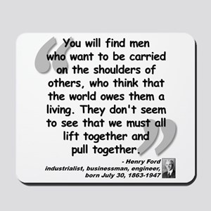 Ford Together Quote Mousepad