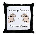 Prevent Cancer Throw Pillow