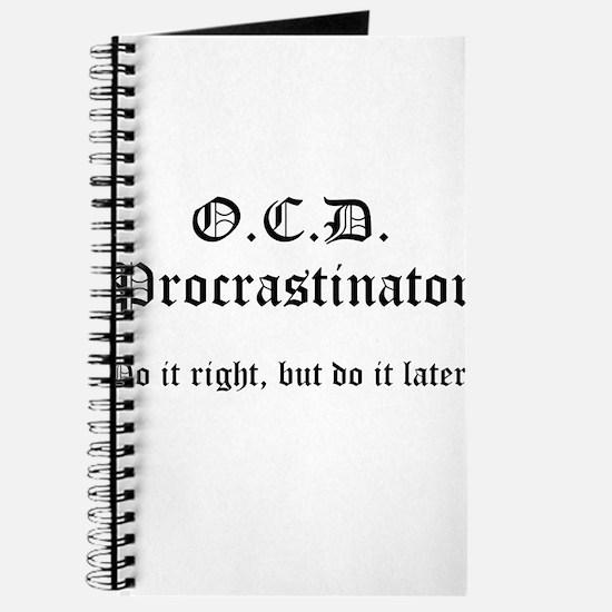 OCD Procrastinator Journal