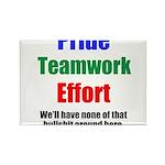 Teamwork Pride Rectangle Magnet (10 pack)