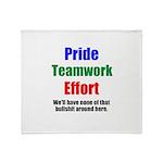 Teamwork Pride Throw Blanket