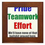 Teamwork Pride Framed Tile