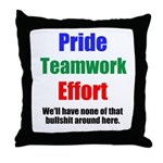 Teamwork Pride Throw Pillow